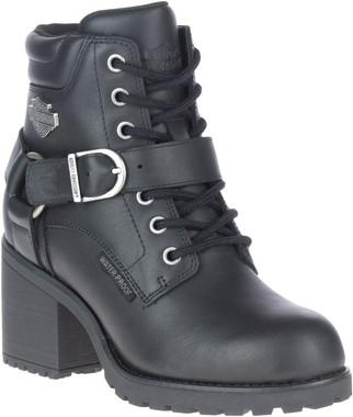 Harley-Davidson Women's Howell 5-Inch Waterproof Black Motorcycle Boots, D84664 - Wisconsin Harley-Davidson