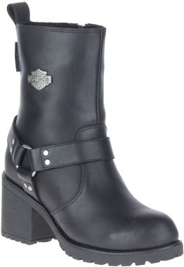 "Harley-Davidson Women's Howell 6.75"" Black Waterproof Motorcycle Boots, D84665 - Wisconsin Harley-Davidson"