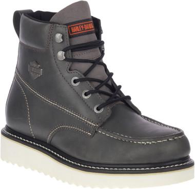 Harley-Davidson Men's Palmerton Grey or Brown 6-Inch Motorcycle Boots, D93689 - Wisconsin Harley-Davidson