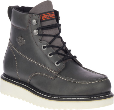 Harley-Davidson Men's Palmerton Grey or Brown 6-Inch Motorcycle Boots, D93689 - Wisconsin Harley-Davidson