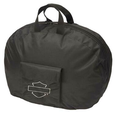 Harley-Davidson Bar & Shield Full Size Helmet Carry Bag, Water-Resistant - Black - Wisconsin Harley-Davidson