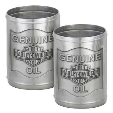 Harley-Davidson Custom Tooled Pewter Oil Can Shot Glass Set - 2.3 oz. HDL-18805 - Wisconsin Harley-Davidson