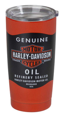 Harley-Davidson Oil Can Stainless Steel Insulated Travel Mug - 20 oz. HDX-98630 - Wisconsin Harley-Davidson