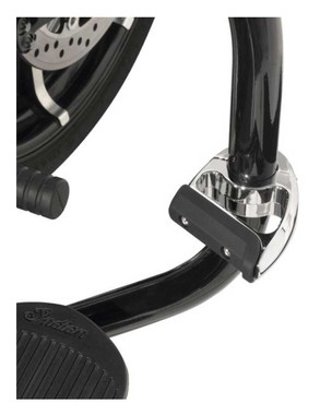 Ciro 1.25 in. Engine Guard Toe Rest, Multi-Fit Part - Chrome or Black Finishes - Wisconsin Harley-Davidson