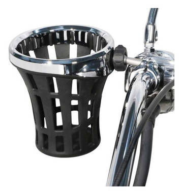 Ciro Big Ass Drink Holder w/ 7/8 - 1 in. Aluminum Clamp Mount, Chrome or Black - Wisconsin Harley-Davidson