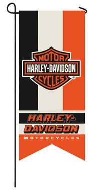 Harley-Davidson Bar & Shield Logo Garden Banner Flag - 12.5 x 28 inch 14LB4900XL - Wisconsin Harley-Davidson