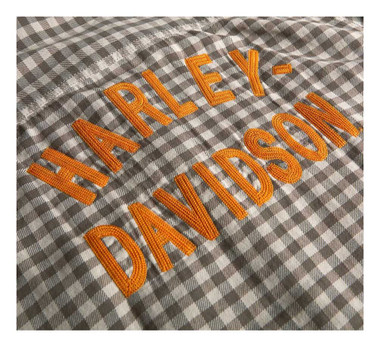 Harley-Davidson Men's Chain Stitched Plaid Short Sleeve Shirt 96424-20VM - Wisconsin Harley-Davidson