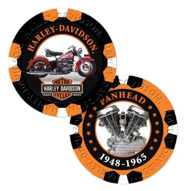 Harley-Davidson Limited Edition Series 5 Poker Chips Pack, Black & Orange 6705 - Wisconsin Harley-Davidson