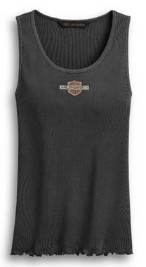 Harley-Davidson Women's Distressed Vintage Logo Sleeveless Tank Top 96438-20VW - Wisconsin Harley-Davidson