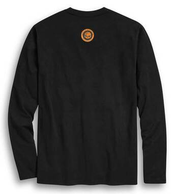 Harley-Davidson Men's Circle Skull Colorblocked Long Sleeve Shirt 96389-20VM - Wisconsin Harley-Davidson