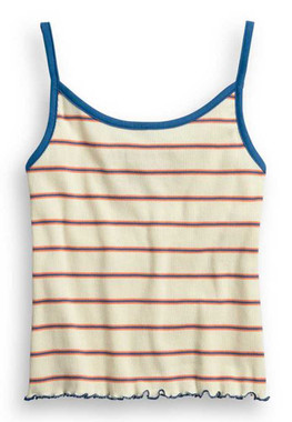Harley-Davidson Women's Striped Strappy Sleeveless Cotton Tank Top 96355-20VW - Wisconsin Harley-Davidson