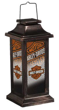 Harley-Davidson Bar & Shield Logo Plastic Metallic Solar Power Garden Lantern - Wisconsin Harley-Davidson