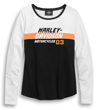 Harley-Davidson Womens Performance Wicking Colorblock Long Sleeve Tee 96413-20VW - Wisconsin Harley-Davidson