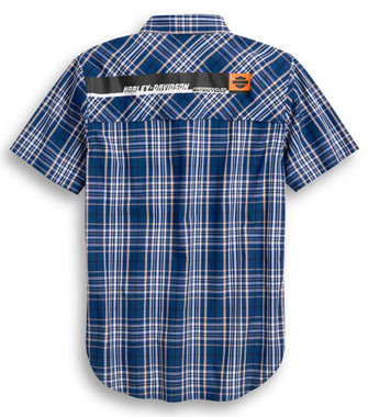 Harley-Davidson Men's Performance Vented Plaid Short Sleeve Shirt 96369-20VM - Wisconsin Harley-Davidson