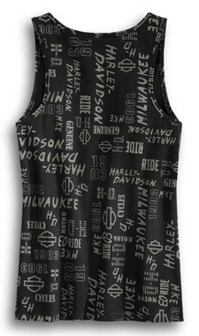 Harley-Davidson Women's Allover Print Graphic Sleeveless Tank Top 96416-20VW - Wisconsin Harley-Davidson