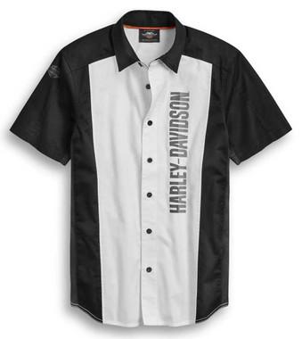 Harley-Davidson Men's Performance Mesh Colorblocked Garage Shirt 96373-20VM - Wisconsin Harley-Davidson