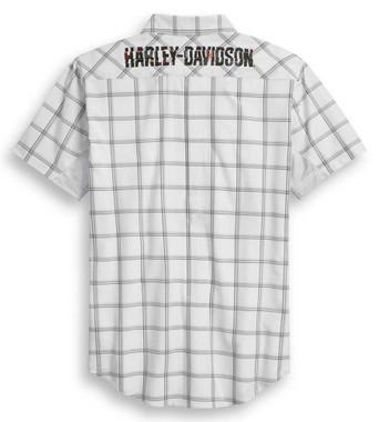 Harley-Davidson Men's Performance Stretch Mesh Fast Dry Plaid Shirt 96374-20VM - Wisconsin Harley-Davidson