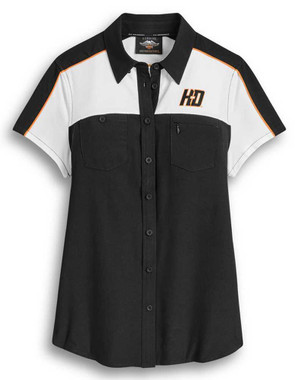 Harley-Davidson Womens Performance #1 Colorblocked Short Sleeve Shirt 96398-20VW - Wisconsin Harley-Davidson