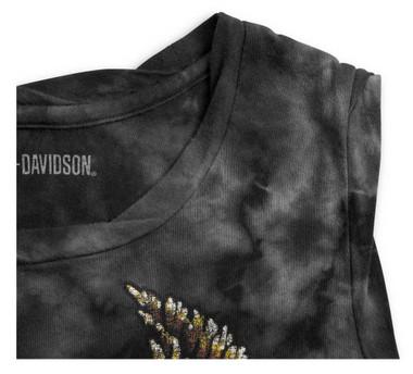Harley-Davidson Women's Tie-Dye Eagle Muscle Sleeveless Tee, Black 96356-20VW - Wisconsin Harley-Davidson