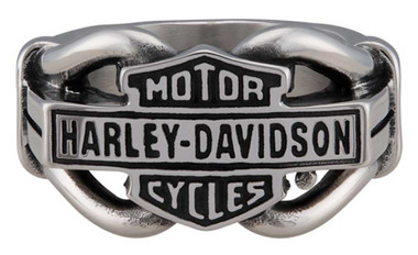 Harley-Davidson Men's Vintage B&S Hardware Ring Band - Stainless Steel, Silver - Wisconsin Harley-Davidson