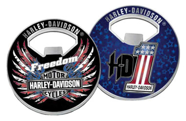 Harley-Davidson B&S Freedom Wings Metal Challenge Coin Bottle Opener, 2 in. - Wisconsin Harley-Davidson