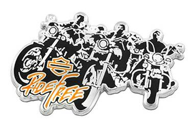 Harley-Davidson 1.5 in. Ride Free Bikes Metal Pin, Silver & Black Finishes - Wisconsin Harley-Davidson