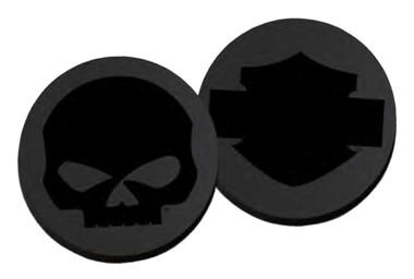 Harley-Davidson Heads or Tails Tonal Logos Metal Challenge Coin, 1.75in. - Black - Wisconsin Harley-Davidson
