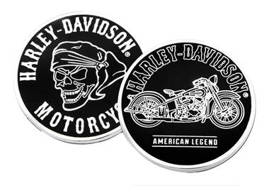 Harley-Davidson American Legend Skull & Bike Metal Challenge Coin, 1.75 in. - Wisconsin Harley-Davidson