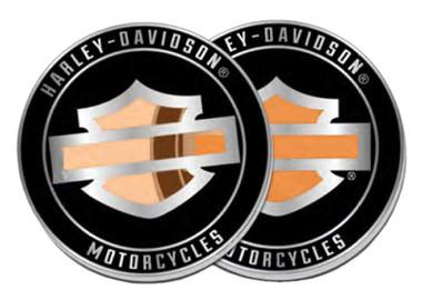 Harley-Davidson Bar & Shield Logo Stained Glass Metal Challenge Coin, 1.75 in. - Wisconsin Harley-Davidson