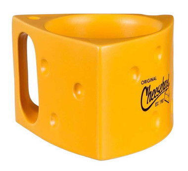 Original Cheesehead Ceramic Cheese Wedge Coffee Mug - Gold, 14 oz. 3AM5070W - Wisconsin Harley-Davidson
