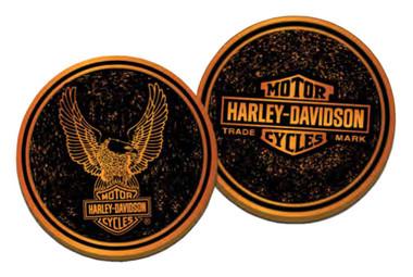 Harley-Davidson Trademark B&S Eagle Metal Challenge Coin, 1.75 in. - Bronze - Wisconsin Harley-Davidson