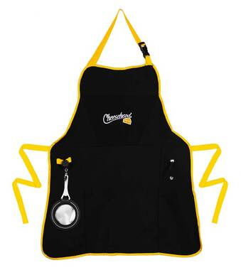 Original Cheesehead Utility Grilling Apron w/ Bottle Opener & Pockets 4AP5070C - Wisconsin Harley-Davidson