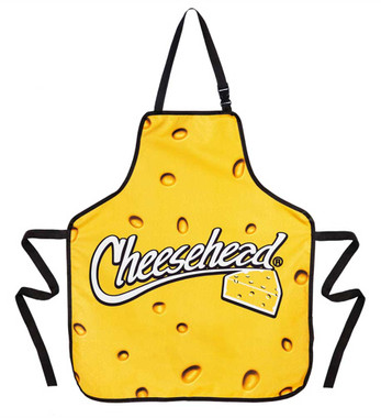 Original Cheesehead Reversible Grilling Apron w/ Blocker Fabric - Gold 4AP5070DS - Wisconsin Harley-Davidson