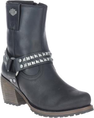 Harley-Davidson Women's Tamori 6-In Black or Grey Fashion Harness Boots, D84670 - Wisconsin Harley-Davidson