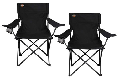 Harley-Davidson Bar & Shield Logo Compact Camping Chairs by Picnic Time Set of 2 - Wisconsin Harley-Davidson