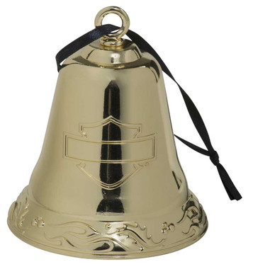 Harley-Davidson 2020 Functional Metal Bell Ornament - Gold Finish HDX-99197 - Wisconsin Harley-Davidson
