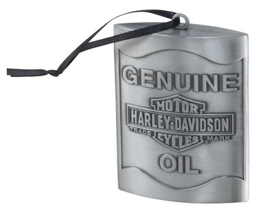 Harley-Davidson Embossed Genuine Oil B&S Pewter Hanging Ornament HDX-99200 - Wisconsin Harley-Davidson