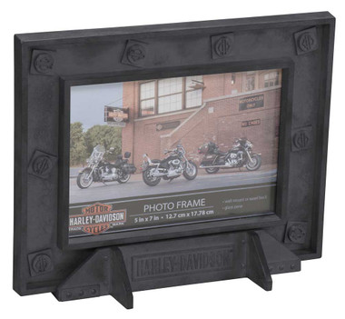 Harley-Davidson Custom Industrial Pewter Picture Frame - 5 x 7 Photo HDX-99185 - Wisconsin Harley-Davidson