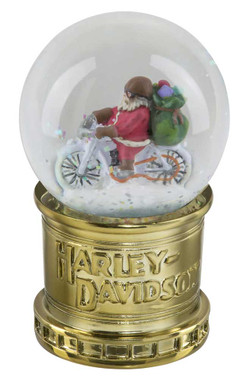 Harley-Davidson Winter 2020 Sculpted Biker Santa Glass Mini Snow Globe HDX-99178 - Wisconsin Harley-Davidson