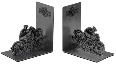 Harley-Davidson Hill Climber Graphic B&S Stainless Steel Bookends HDX-99184 - Wisconsin Harley-Davidson