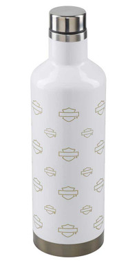 Harley-Davidson Repeat B&S Silhouette Water Bottle, 17 oz. - White HDX-98634 - Wisconsin Harley-Davidson