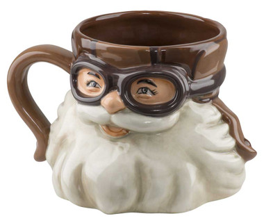Harley-Davidson Biker Santa Sculpted Coffee Mug, 23 oz. Brown & White HDX-98633 - Wisconsin Harley-Davidson