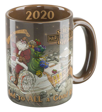 Harley-Davidson Winter 2020 Biker Santa Coffee Mug, 15 oz. - Brown HDX-98632 - Wisconsin Harley-Davidson