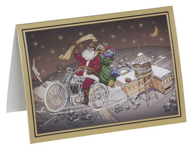 Harley-Davidson Winter Biker Santa Boxed Holiday Cards - Set of 12 HDX-90024 - Wisconsin Harley-Davidson