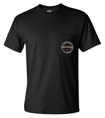 Harley-Davidson Men's Worlds Finest HD Chest Pocket Short Sleeve T-Shirt, Black - Wisconsin Harley-Davidson