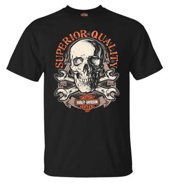 Harley-Davidson Men's Terror Skull Short Sleeve Crew-Neck Cotton T-Shirt, Black - Wisconsin Harley-Davidson