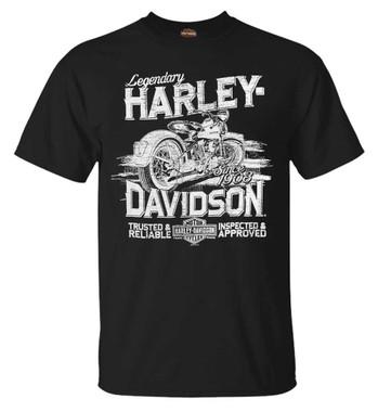 Harley-Davidson Men's Trusted Bike Short Sleeve Crew-Neck Cotton T-Shirt, Black - Wisconsin Harley-Davidson