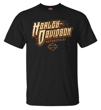 Harley-Davidson Men's Ravage H-D Crew-Neck Short Sleeve Cotton T-Shirt, Black - Wisconsin Harley-Davidson