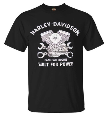 Harley-Davidson Men's Historical Panhead Short Sleeve Crew-Neck T-Shirt, Black - Wisconsin Harley-Davidson
