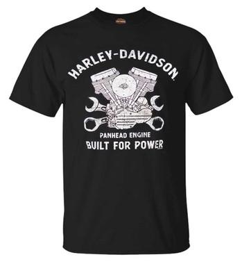 Harley-Davidson Men's Historical Panhead Short Sleeve Crew-Neck T-Shirt, Black - Wisconsin Harley-Davidson